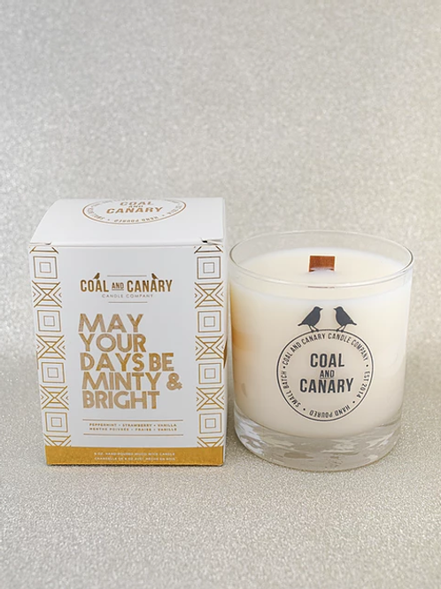 May Your Days Be Minty & Bright Candle
