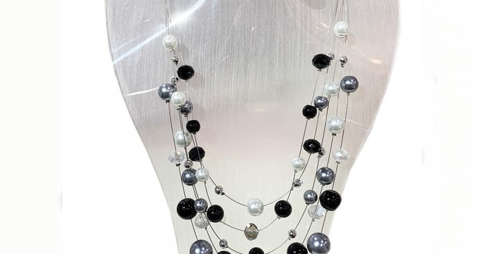 Jacqueline Kent - Necklace Earring Set Magnetic Black (134BK)