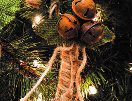 Small Natural Candy Cane Ornament -   -  (994483)