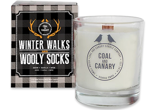 Winter Walks and Wooly Socks Candle