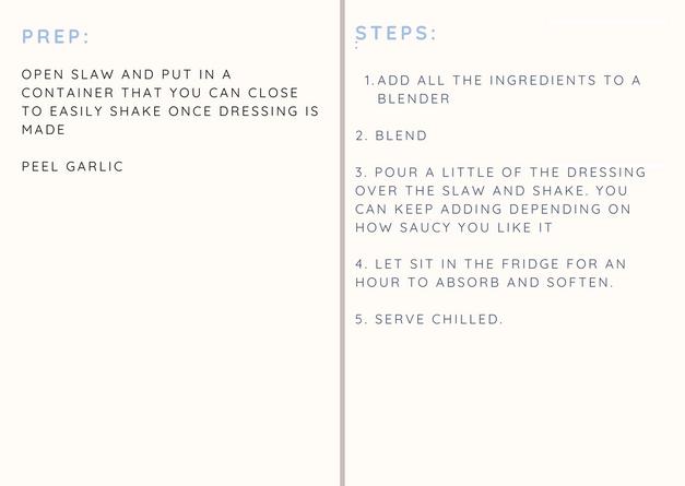 Prep + Steps