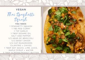 Thai Inspired Spaghetti Squash