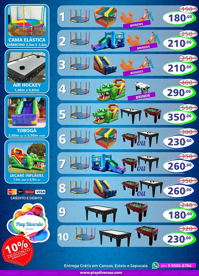Kits Play Diversão de brinquedos para festas infantis