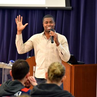 Superbowl champion Cedric James shares some words of wisdom.