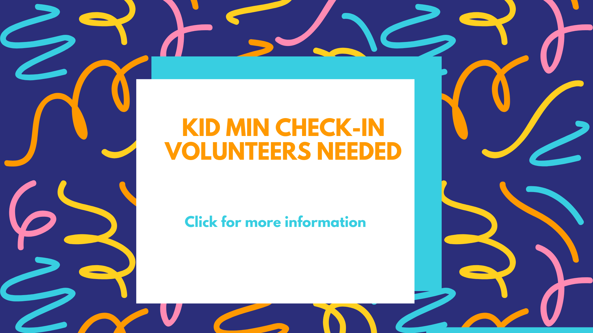 Check-in  volunteer for bulletin and web