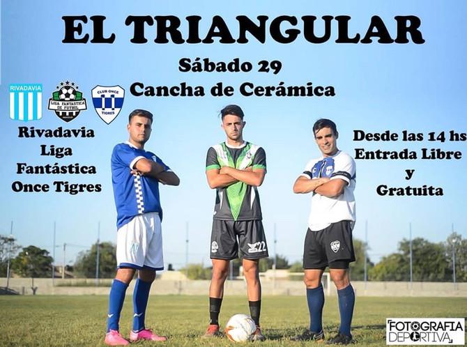Fútbol Once Tigres, Rivadavia y Defensores de Chivilcoy en el Triangular de verano