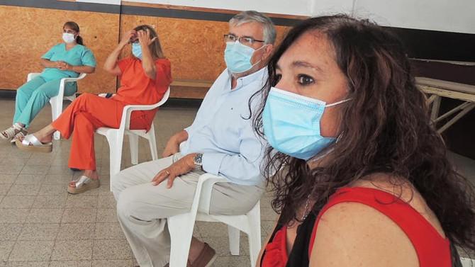 """Di Nápoli""""Hay vacunas, estarán llegando y prontamente empezaremos a aplicar a toda la comunidad"""""""