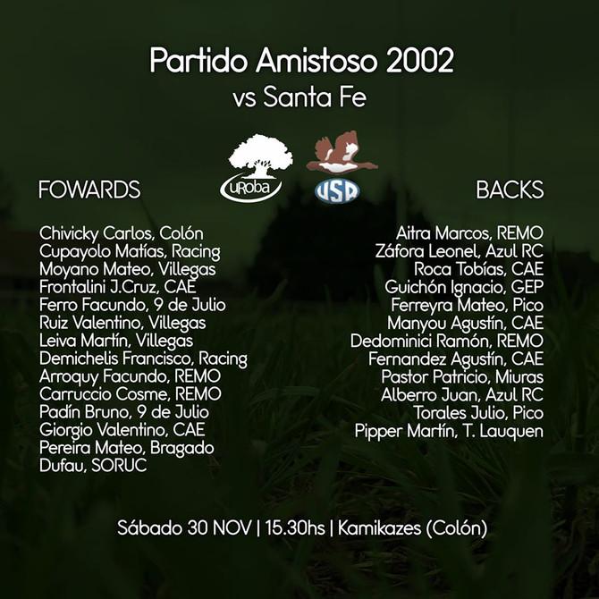 Rugby  Amistoso entre las selecciones de Uroba y la Unión Santafesina