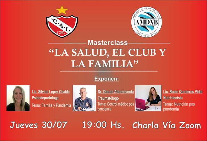 """Independiente - AMDNB Masterclass: """"La salud, el Club y la Familia"""""""