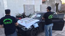 Detención de un ciudadano por infracción a la Ley 23.737 y secuestro de dos vehículos