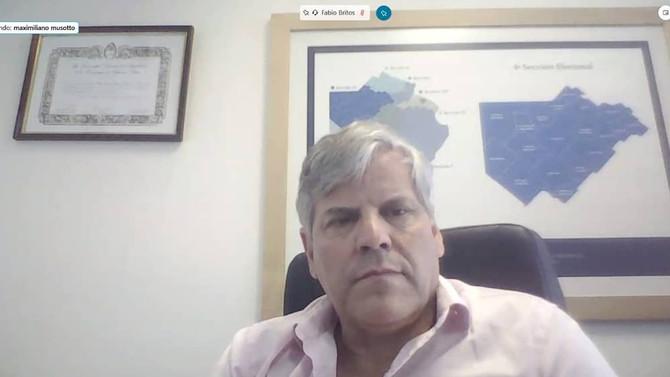 """Fabio Britos: """"Los intendentes decidieron  quitar los retenes aunque fortalecer el control interno"""""""