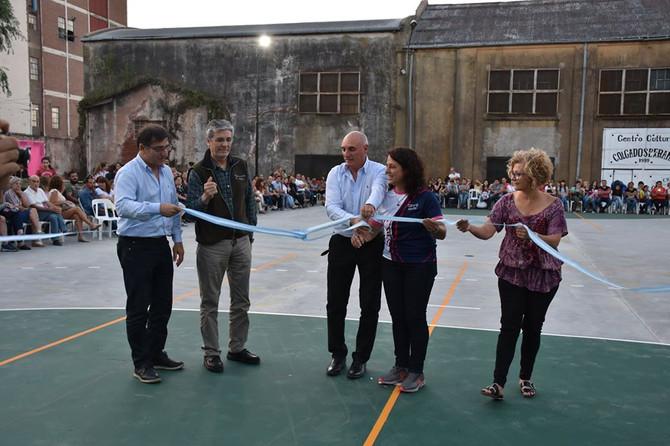 Trabajo anual  El CEF N°12 presentó su nuevo playón deportivo