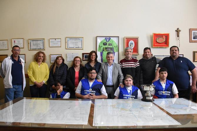 """Football Powerchair Reconocimiento al equipo de """"Los Guerreros del Oeste"""""""