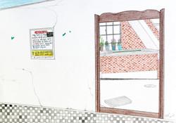 벽과 거울_color pencil and pencil on paper_ 18.0x25.0cm_ 2015