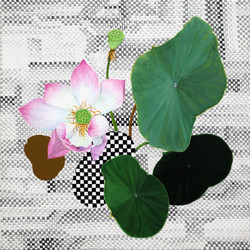 연꽃, acrylic on canvas, 25x25cm, 2014