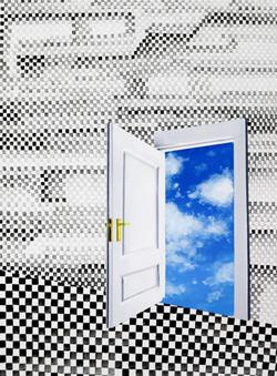 닫히지 않는 문_ acrylic on paper_ 21.0x29.7cm_2014