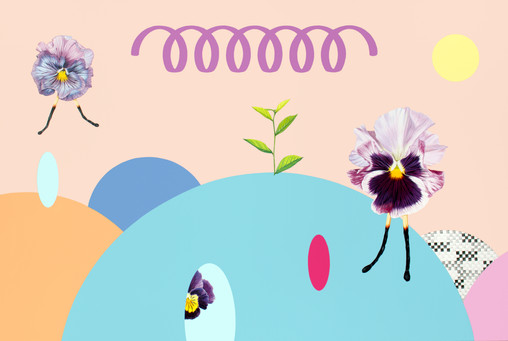 흔들리는 꽃들 속에서#2_캔버스에 아크릴_90.9x60.6cm_2020.