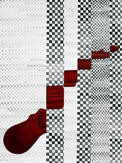 빨강 물총_acrylic on paper_21.0x29.7cm_2014