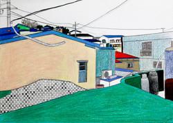 동네_color pencil and pencil on paper_ 18.0x25.0cm_ 2015