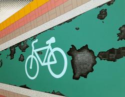 자전거 도로_ acrylic on canvas_ 91.0x116.8cm_2014