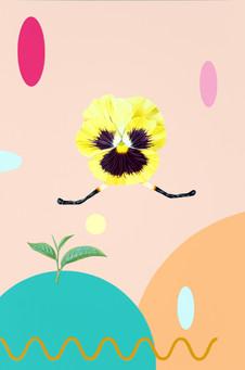 흔들리는 꽃들 속에서#1_캔버스에 아크릴_60.6x40.9cm_2020.