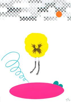 pansy drawing#1_종이에 아크릴_29.7x21