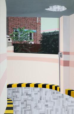 여름 주차장(부제 다른 시간)_acrylic on canvas_100.0x65.1cm_2015
