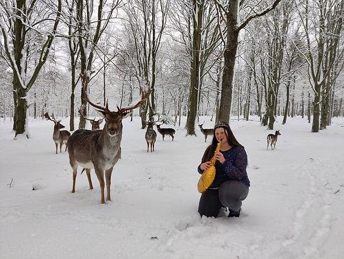 Pige med rensdyr