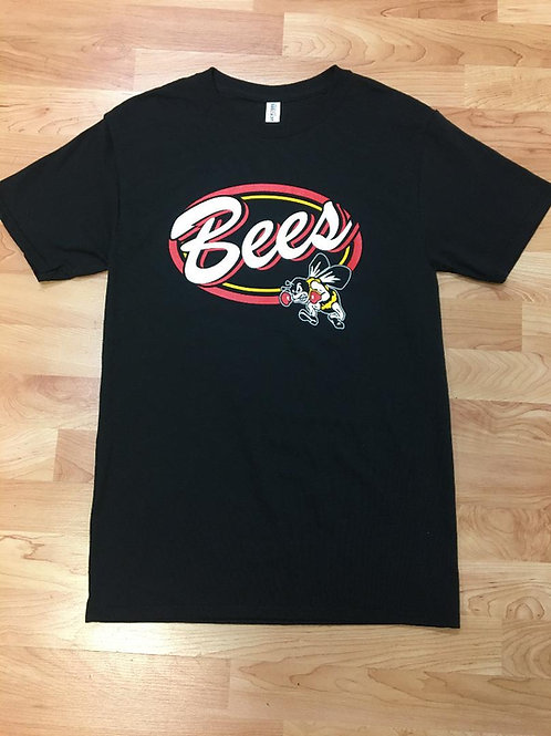 Black Unisex T-shirt - Script Bees w/ Fighter Bee