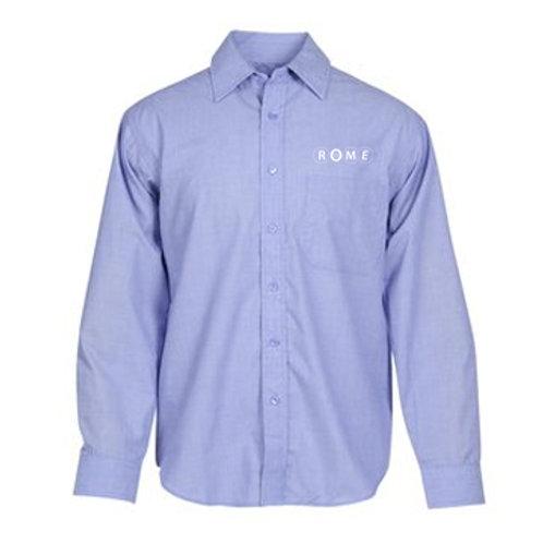 ROME Long Sleeve Stain Release Crossweave Shirt - Men's