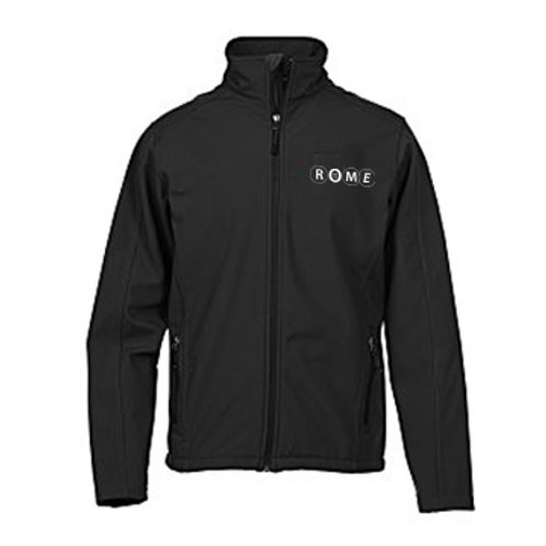 ROME Crossland Soft Shell Jacket Black - Men's