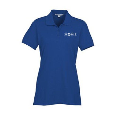 ROME Easy Care Wrinkle Resist Cotton Pique Polo - Ladies