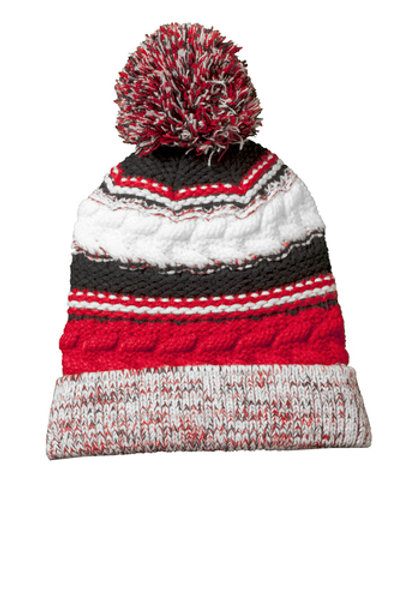 Knit Cap - Embroidered