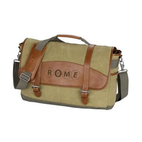 ROME Cutter & Buck Legacy Cotton Laptop Messenger Bag