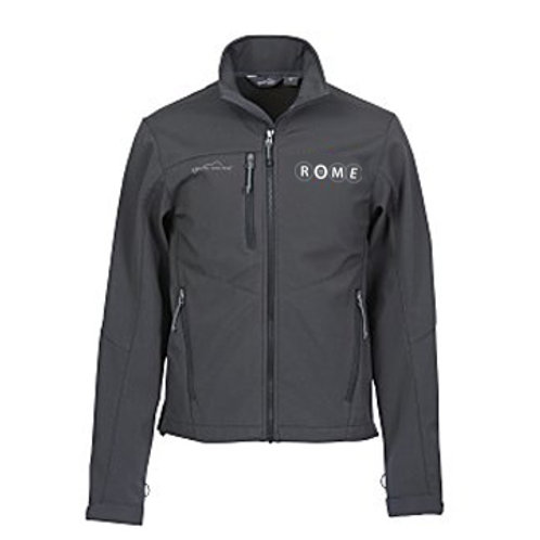 ROME Eddie Bauer Soft Shell Jacket Gray - Men's