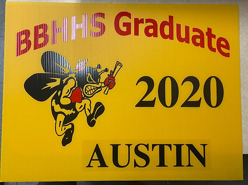 BBHHS 2021 Graduation Yard Sign