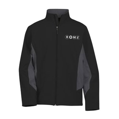 ROME Crossland Colorblock Soft Shell Jacket Black - Men's