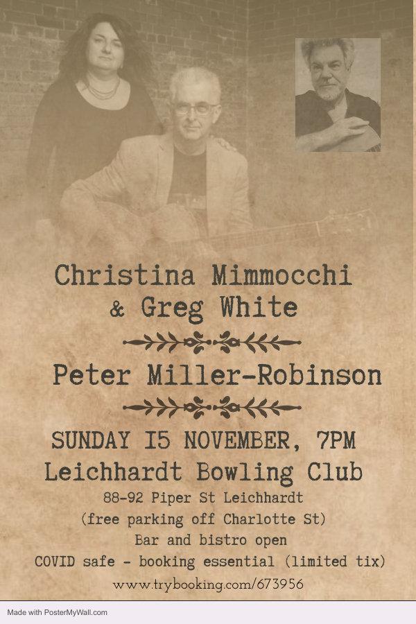 Copy of old vintage guitar concert flyer