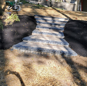 Paver stairway install