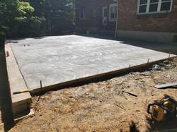 Raised Concrete Patio with Allan Block Classic