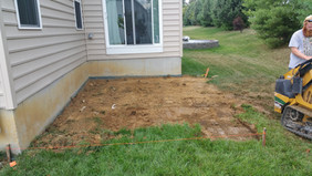 Concrete patio prep