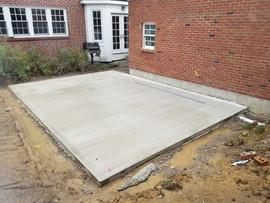 concrete patio and landscape install