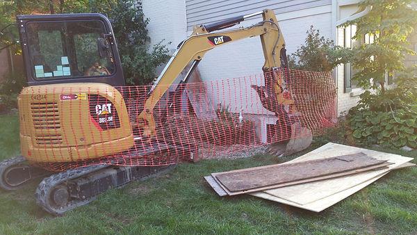 Egress install and sump drain line