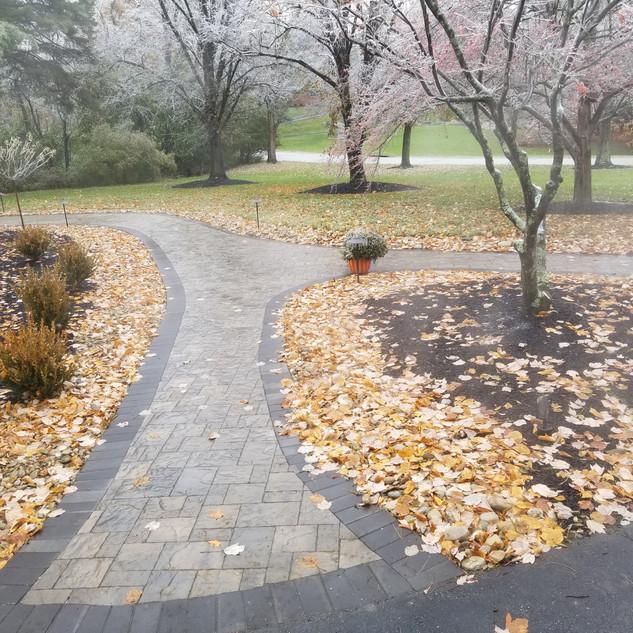 Paver walkway install