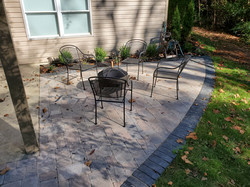 Paver patio and landscape install