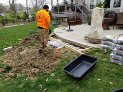 Fireplace pad and Paver Overlay