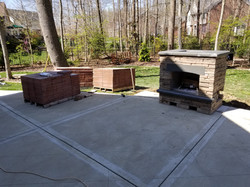 Concrete Overlay and Fireplace Install