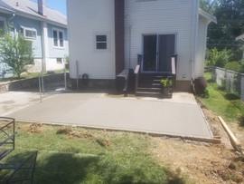Concrete patio install