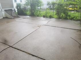 Concrete patio renovation