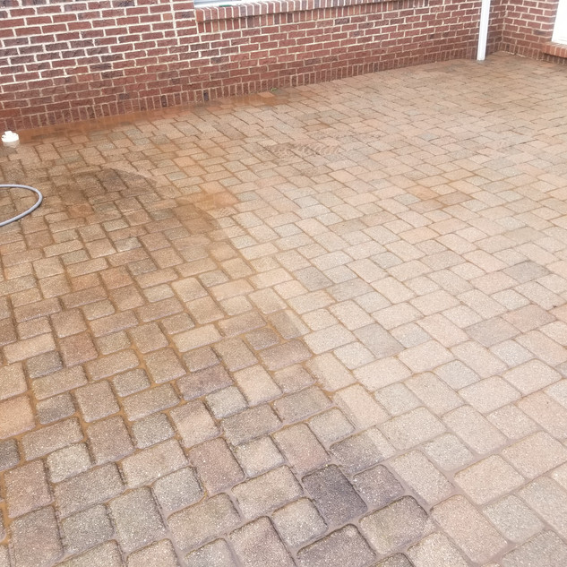 Paver re-sand and pressure washing